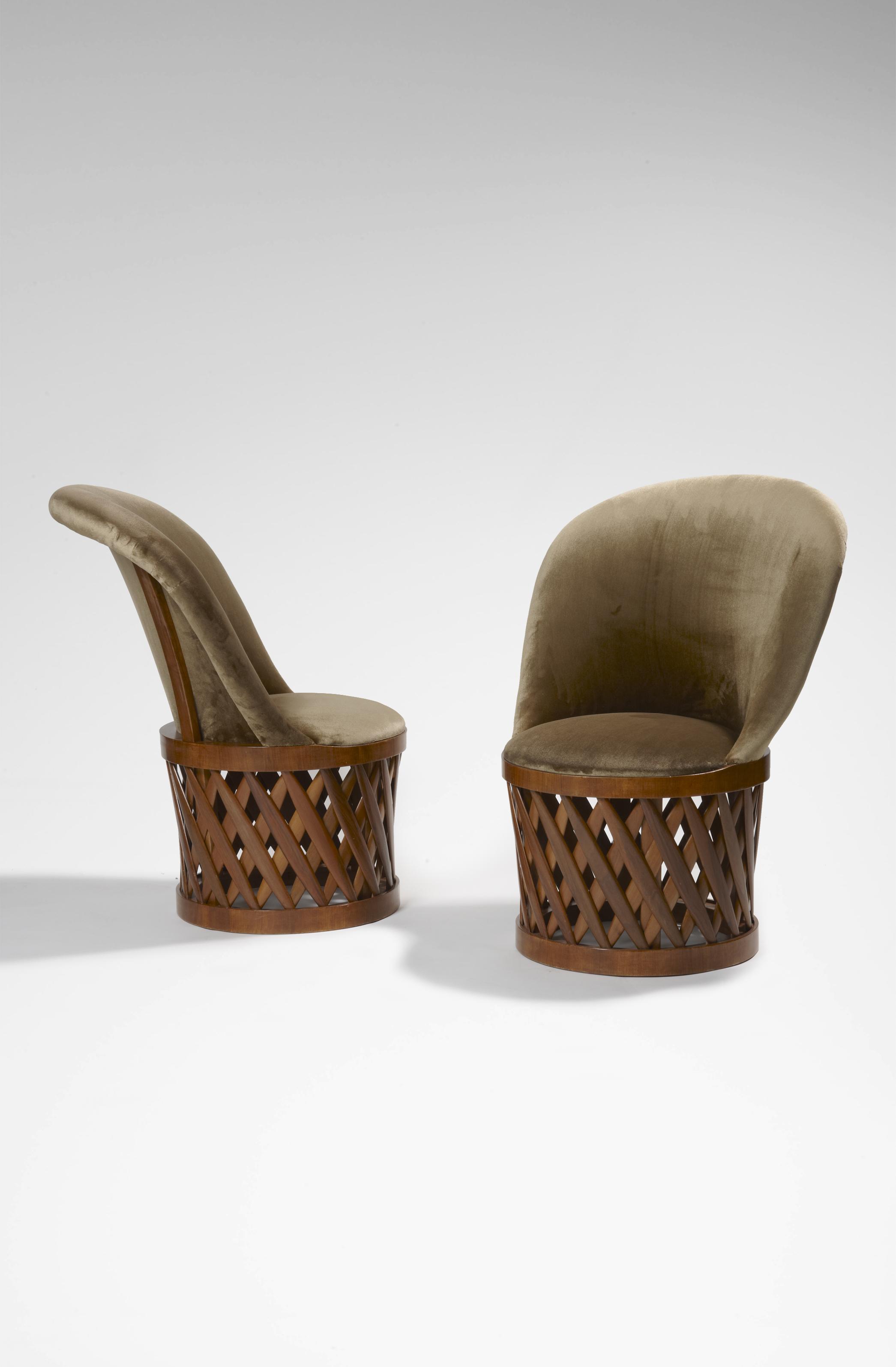Paire de sièges tambour - Eyre de Lanux