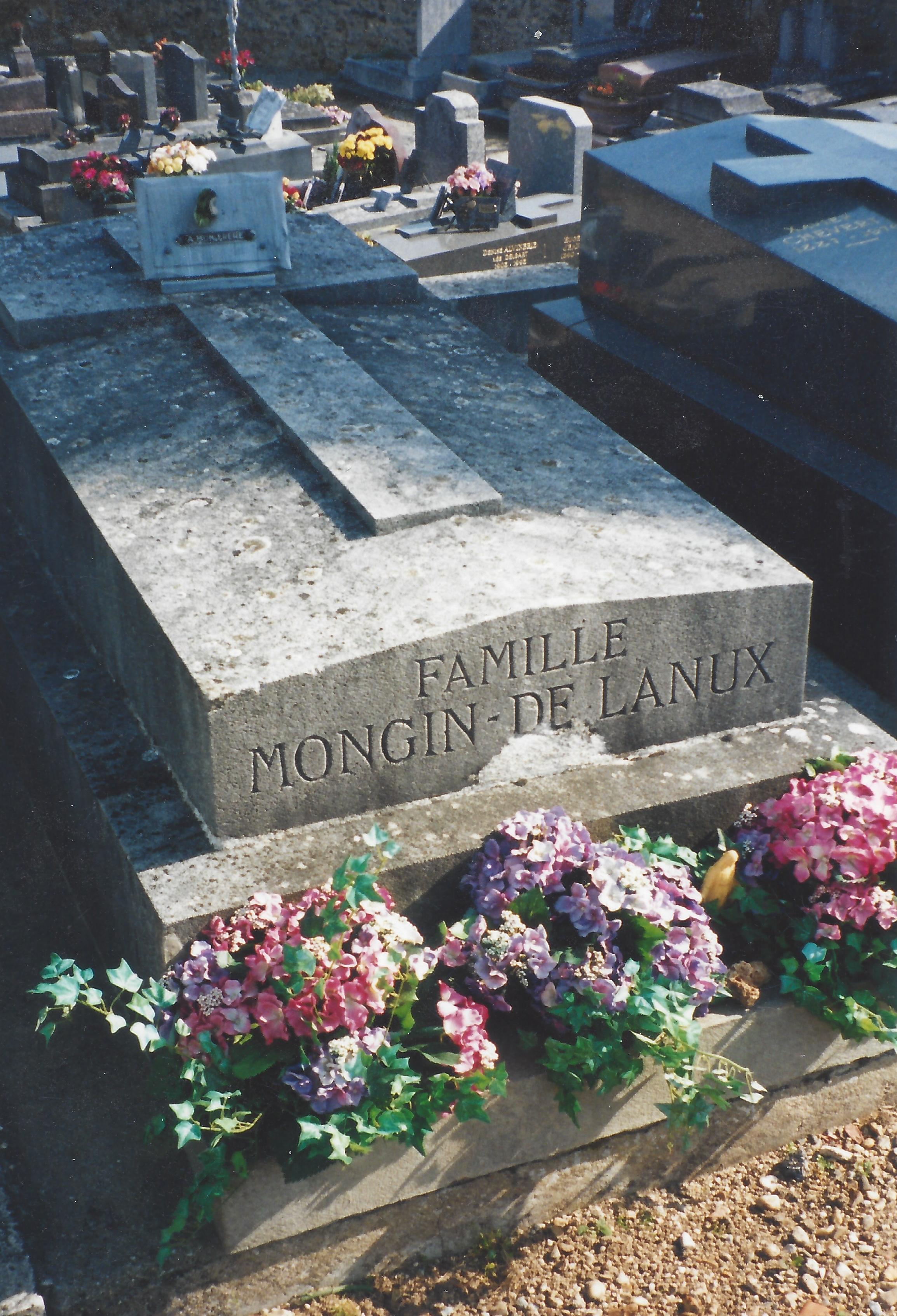 Tombe de Roland de Lanux à Villemoison sur Orge (91)