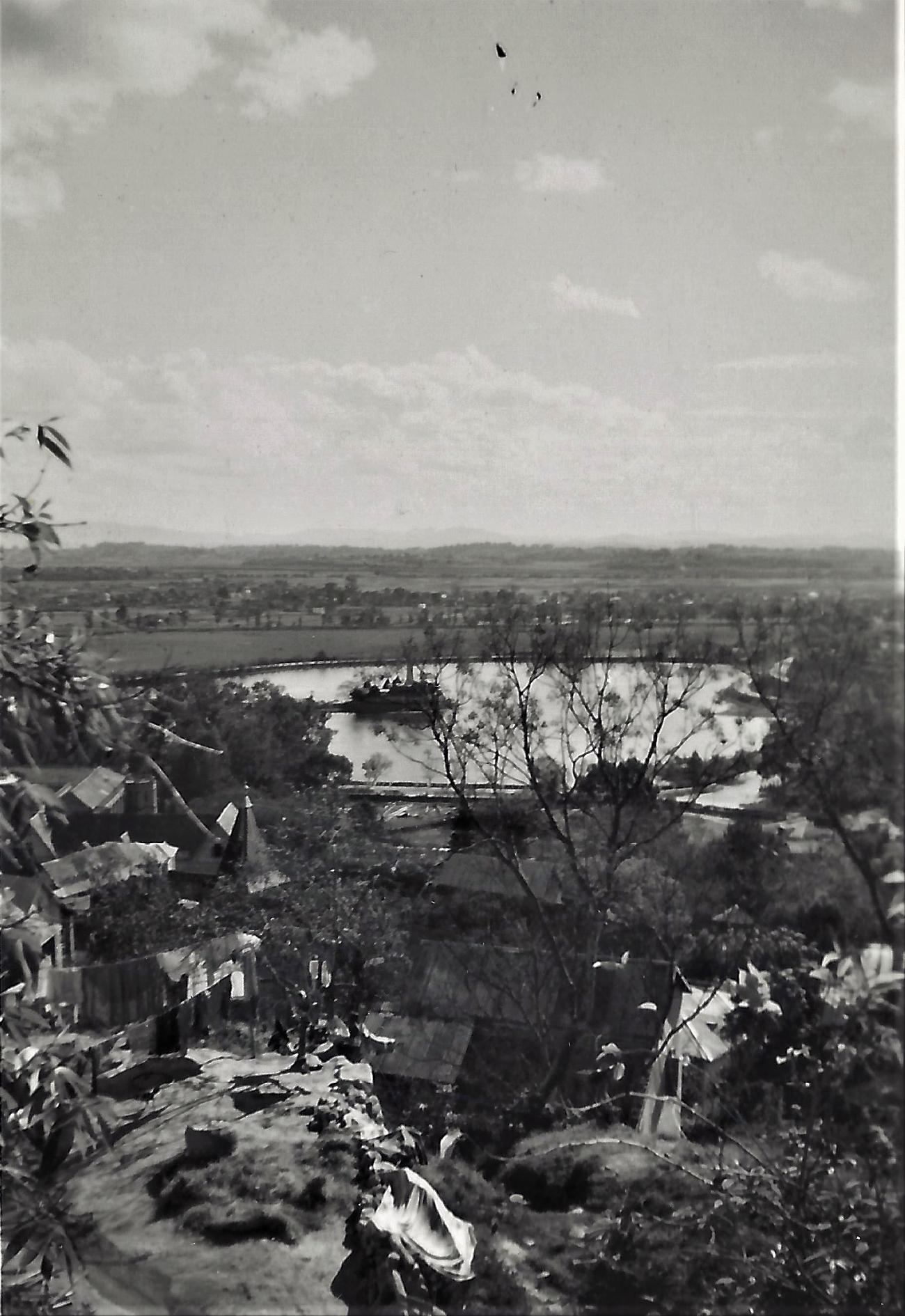 Vue sur le lac d'Anosy, Tananarive