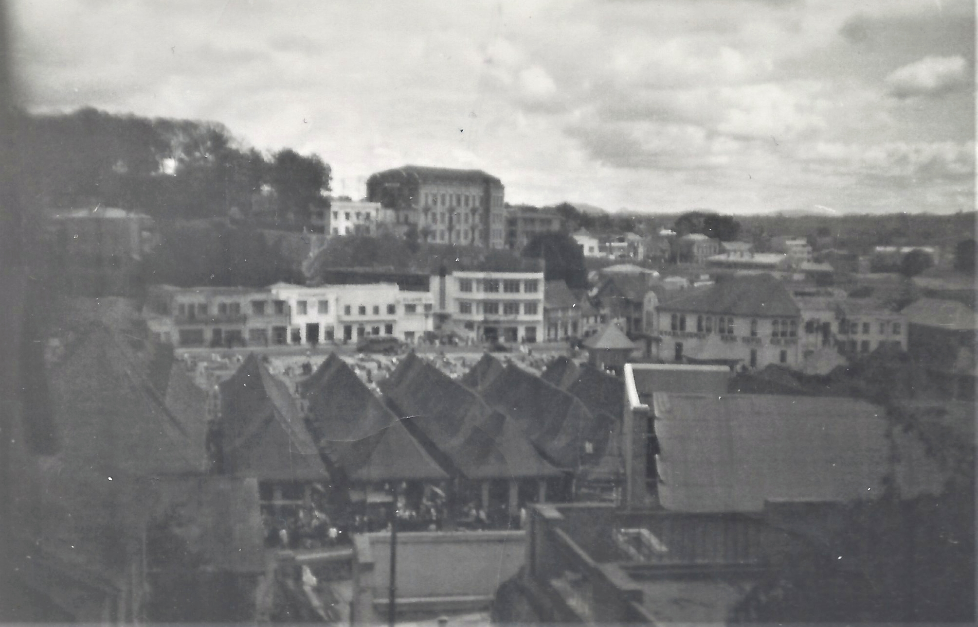 Vue sur Analakely, Tananarive